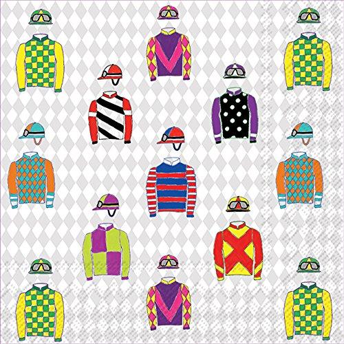 Boston International Papierservietten 20-Count Jockey Silk Kentucky Derby Jockey Silks