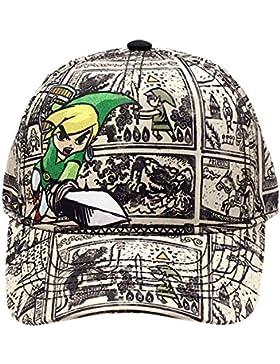 Zelda Nintendo Legend of Woods Boys Curved Bill Cap, Gorra de Béisbol Unisex Adulto, Grey (Grey Grey), Talla única