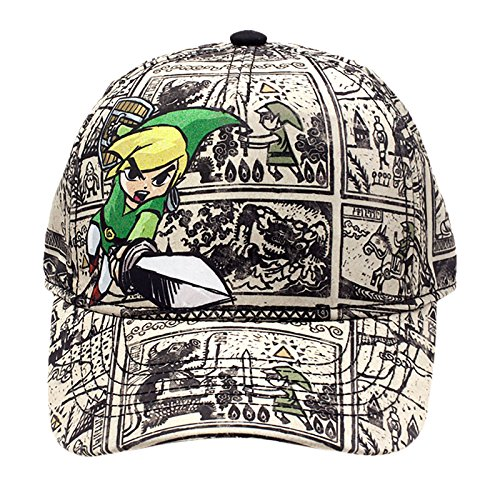 Zelda Unisex Baseball Nintendo Legend of Woods Boys Curved Bill Cap, Grey (Grey Grey), One size