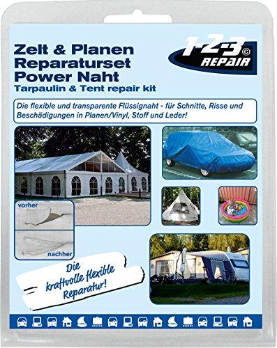 ATG Power Naht PU PVC Kleber I Planen Reparaturset Flickzeug für Zelt, Schlauchboot, Luftmatratze, PKW und vieles mehr I Flickset Zubehör zur Versiegelung und Ausbesserung von Rissen und Löchern