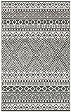 Grün Deko-leichte Outdoor wendbar Kunststoff Relic plastic Teppich (150 x 240 cm, Grau / Weiß)