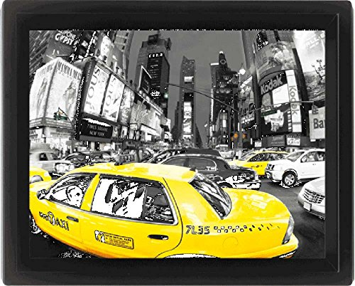 Empireposter – New York – Rush Hour Time Square – Taille (cm), env. 20 x 25–3D Poster Format A4, NEUF – Description : – Qui sont Poster 3D haute qualité dans un cadre Profilé encadrée, avec crochet de suspension à l'arrière et donc prêt à être. -