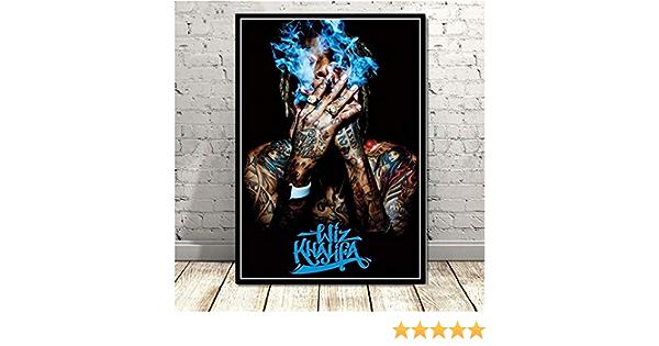 nr Hot Wiz Khalifa Rapper Hip Hop Musik Star S/änger Leinwand Poster Drucken Kunst Wandbild Wohnzimmer Dekoration-50x70 cm Rahmenlose