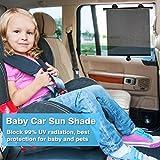Sinbide® Sonnenblende Auto Baby Sonnenschutz Baby Auto Auto Sonnenrollo Auto Sonnenschutzrollo Sonnenschutz Kinder Auto Auto Sonnenschutzblende Sonnenschutz Seitenscheibe (4 Stk)