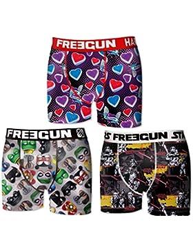 Freegun Collection - Juego de 3 boxers