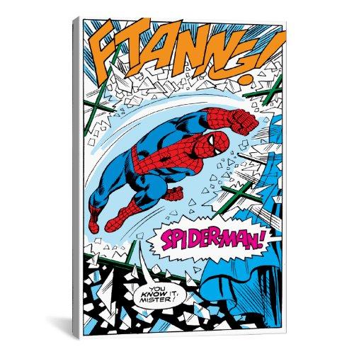 iCanvasART Marvel Comics Spiderman Panneau B Impression sur Toile, 18par 30,5cm Wrapped Canvas (.75' Deep) 12'x8'