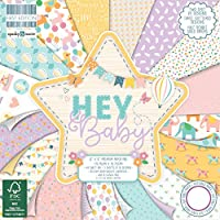 Premium Craft Cardstock First Edition 6x6 Designer Paper Pad - Hey Baby