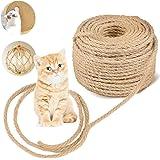 Deer Platz Sisal touw voor katten, natuurlijke touw, kattenboom, reservetouw voor kattenkrabpaal voor katten, krastouw, tuinb
