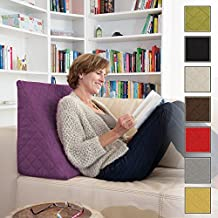 La Almohada Tipo Cuña increíble - Para Su Sala De Estar o Su Recamara, Almohada Para Leer Con Un Sentado Relajado. Disponible en 5 Colores Con Un Diseño De Moda (púrpura)
