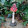 Garten Deko 4 Rote Fliegen Pilze mit Spitzem Kopf aus Polyresin 8-12cm Hoch von Gardens2you auf Du und dein Garten