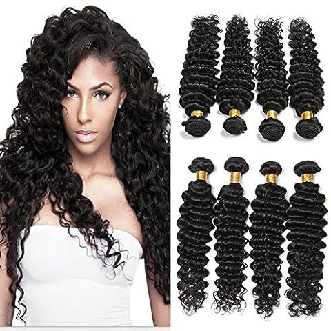Silkylong Peruvian Deep Wave 4 Bundles Weave Hair Unprocessed Curls hair Natural Black 10 12 14 16 inch Products Wholesale