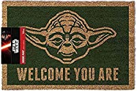 "Star Wars Yoda ""Welcome You Are"" Door Mat, Polyurethane, Brown  Durable door mat with rubber backing Measures approximately 60cm x 40cm Features a cool Yoda design with 'Welcome You Are' motif Ideal for fans of Star Wars Officially licensed ..."