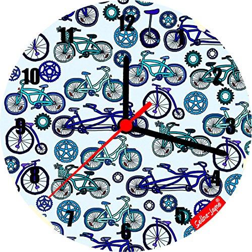 Selina-Jayne biciclette Edizione limitata Orologio da parete in vetro