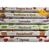 Dragons Blood, Weihrauch und Myrrhe, Lavendel, Patchouli, Sandelholz & Opium Räucherstäbchen Geschenk Pack. preisvergleich bei billige-tabletten.eu