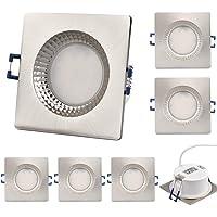 KYOTECH LED Spot encastré Extra plat 6W 500LM Spots de Plafond Blanc Chaud 3000K étanchéité IP65 Plafonnier Encastré…