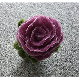 Filzring - handgefilzter Ring mit Rosenblüte