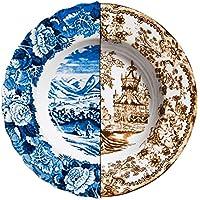Seletti Plato Hondo de Porcelana «Hybrid-Sofronia» DE 25,4 cm de Diámetro x 4,2 DE Alto