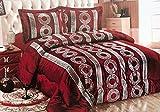 Bavary Medusa Versac Tagesdecken Set 3 TLG. Elegant und Stillvoll Neuheit und Luxus (Rot/Silber)