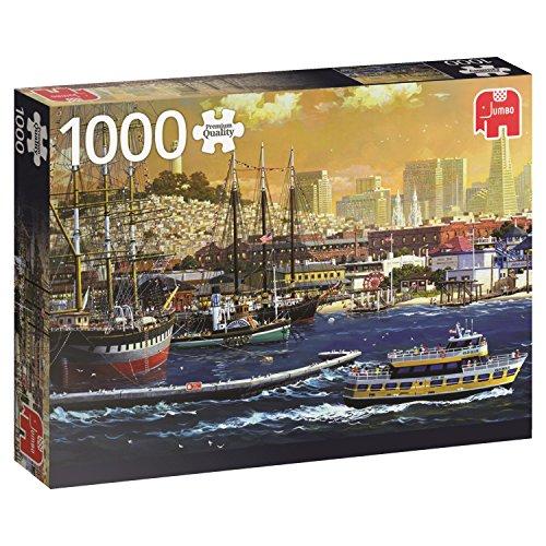 Jumbo Spiele 18552 Puzzle Der Hafen von San Francisco, USA, 1000 Teile