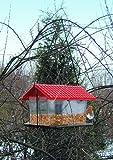 Vogelfutterhaus Kunststoff zum Hängen oder Pfahlmontage