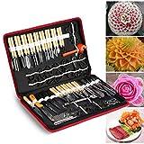 80 teilig Schnitzwerkzeuge Ausstecher Ausstechformen Carving Werkzeug Set Schnitzmesser Handwerkzeug für Obst Gemüse Garnieren Schneiden