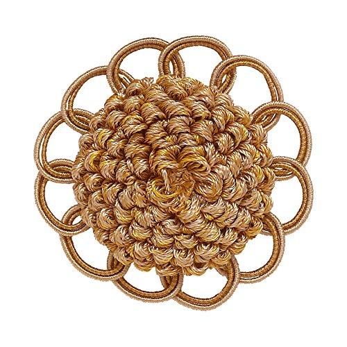 Dekorative Rosette 6,3cm Zwei Tone Gold/Barock Kollektion Style # BR Farbe: Gold Medley-8633 - Zwei-ton-quaste