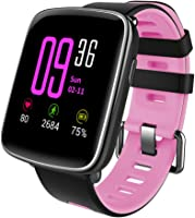 Willful Smartwatch con Pulsómetro,Impermeable IP68 Reloj Inteligente con Cronómetro, Monitor de...