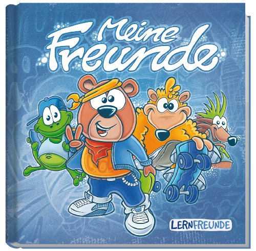 Freundebuch Meine Freunde (metallic blau) Liebevoll gestaltet mit vielen Zusatzseiten und Visitenkarten zum Heraustrennen