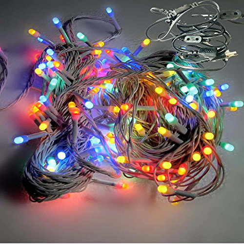Ascension® Set Of 6 Rice Light Of 4 Meter Serial Bulbs Decoration Lighting For Diwali Christmas (Multi Colour) With 6+1 Connectors Wire Jointer (female Sockets)