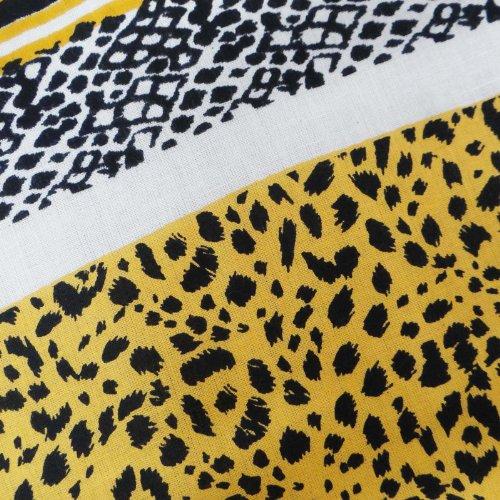 Puro Algodón Tela 43 amarillo estampado leopardo de Coser Cortinas cortina de tela de costura Por 1 Peice