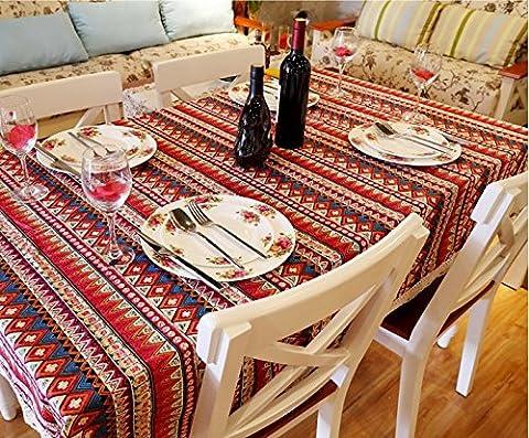 Beddingleer Cotton & Linen DIY Pattern Style Rectangular Tablecloth Elegance