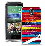 HTC Desire 526 526G Handy Tasche, FoneExpert® Ultra dünn TPU Gel Hülle Silikon Case Cover Hüllen Schutzhülle für HTC Desire 526 526G + Displayschutzfolie (Eat healthy)