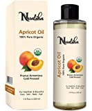 Nualoha Organic Apricot Kernel Oil, 220 ML -100% Pure Cold Pressed, Natural Anti Aging Moisturizer for Skin, Hair, Face…