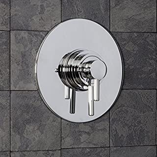 Architeckt Modern Round Shower Valve Thermostatic Concentric Concealed/Exposed Chrome