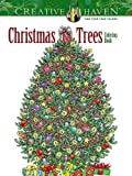 Christmas Trees Adult Coloring Book