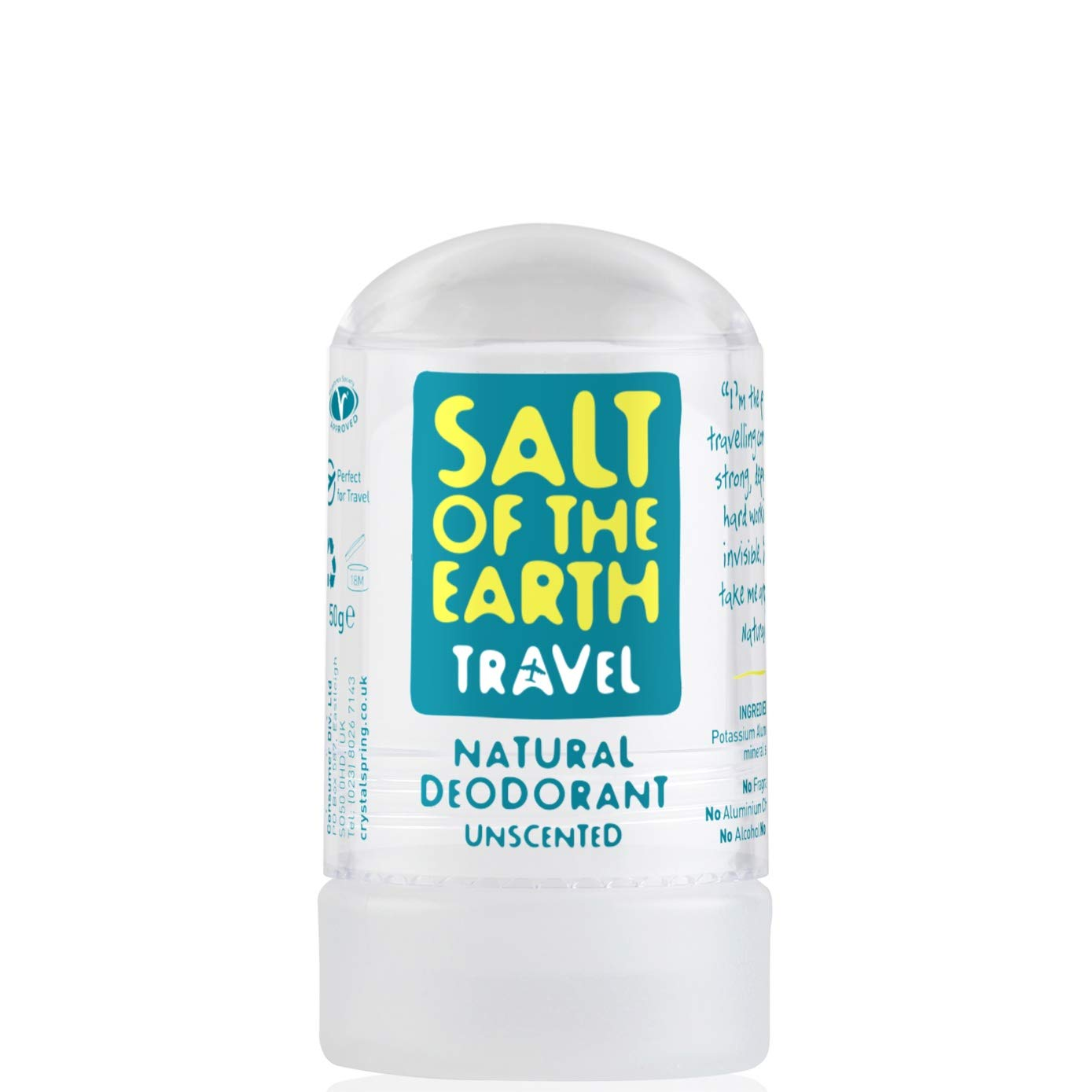 Salt of the Earth Unscented Natural Crystal Travel Deodorant 50g