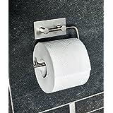 Kasomi-Toilettenpapierhalter ohne bohren für einfachstes und schnellstes anbringen.In gebürstetem Edelstahl, matt.