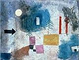 Posterlounge Leinwandbild 130 x 100 cm: Rote Säulen vorbeiziehend1928 von Paul Klee/akg-Images - fertiges Wandbild, Bild auf Keilrahmen, Fertigbild auf Echter Leinwand, Leinwanddruck