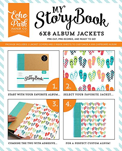 ECHO PARK Paper Company My Story Book Album Jacke 15,2x 20,3cm -flip Flops (Flip-flops Alpha)