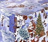 WACHSTUCH TISCHDECKE abwischbar Meterware, Größe wählbar, 300x140 cm, Glatt Weihnachten Schnee