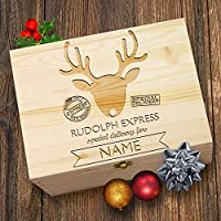 TWISTED ENVY Personalised Rudolph Express Delivery Wooden Christmas Eve Box