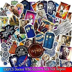 Blour 100pcs Doctor Who Tardis Aufkleber Sätze Anime Aufkleber Lot Für Laptop Fahrrad Telefon Gitarre Marvel Cartoon Aufkleber Pack Auto