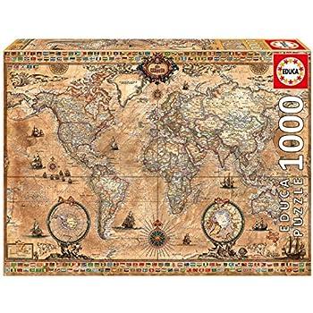Educa 14827 the world executive map 4000 pieces genuine educa borras 15159 antique world map puzzle 1000 piece gumiabroncs Image collections