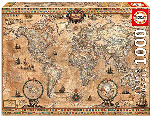 - Historische Weltkarte, 1000-Teilig (Karte Puzzle)
