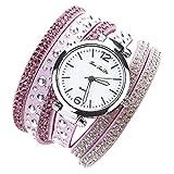 Montre Femme Angelof Montre Et Bijoux Femme Cadeau Vostok Montre Cadrans Fille Montre Ultra Fine Quartz Bracelet (F)