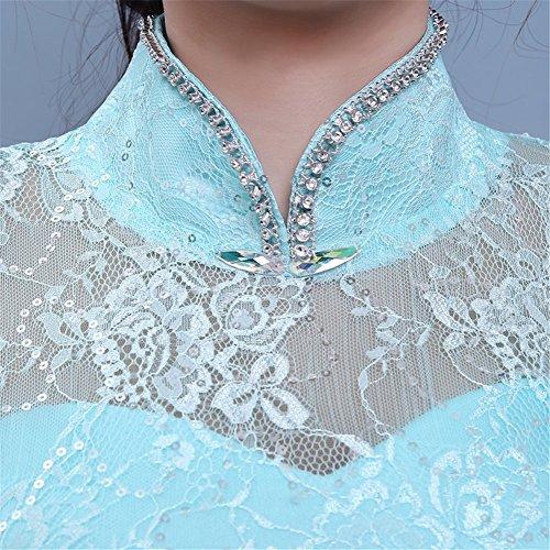Drasawee Damen Empire Kleid Blau