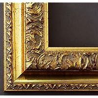 Bilderrahmen Rom Gold 6,5 - WRU - 60 x 70 cm - wählen Sie aus über 500 Varianten - alle Größen - Landhaus, Antik, Barock - Fotorahmen Urkundenrahmen Posterrahmen