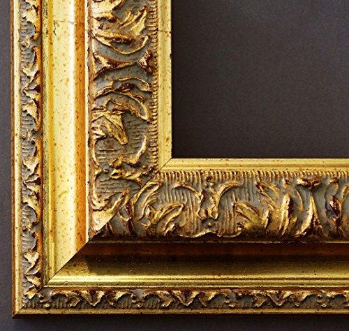Spiegel Wandspiegel Badspiegel Flurspiegel Garderobenspiegel - Über 200 Größen - Rom Gold 6,5 - Außenmaß des Spiegels 50 x 70 - Wunschmaße auf Anfrage - Antik, Barock