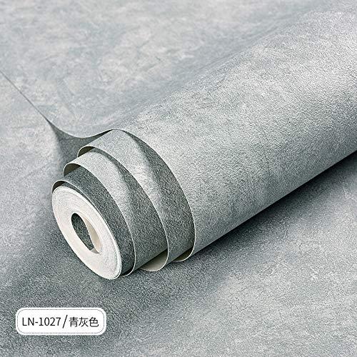 ZCHENG Nordic, ciment, gris clair, gris clair, couleur industrielle du vent, fond d'écran, magasin de thé, restaurant, boutique de vêtements, papier peint, bleu, gris LN-1027