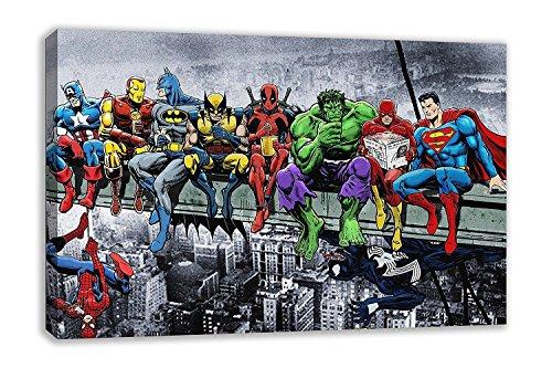 Dynamo Printing Ltd Marvel DC Comic Superhelden Girder Lunch ATOP Skyscraper Kunstdruck auf Leinwand (111,8x 66cm)